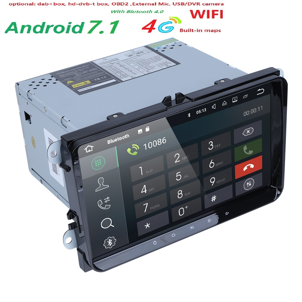 Quad Core 2 Din Android 7 1 RAM 2G Car Navigation For VW Volkswagen GOLF 5