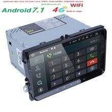 4 ядра 2 DIN Android 7.1 Оперативная память 2 г автомобильный навигатор для Фольксваген Гольф 5 Гольф 6 поло Passat Skoda CC Jetta Tiguan Touran GPS