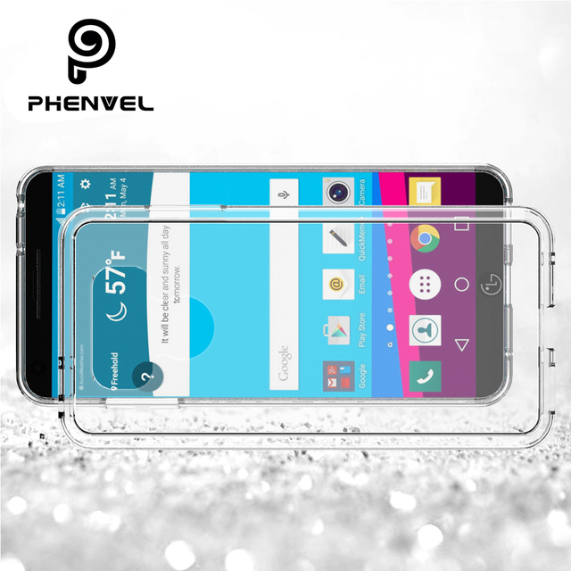US $2 98 40% OFF|Phenvel crystal bumper cover for LG G6 g6+ TPU + PC impact  protective case for lg g6 Transparent case-in Phone Bumper from Cellphones