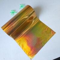 2rolls Lot Holographic Stamping Foil For Paper Or Plastic Gold Plain Color 16cm X 120m