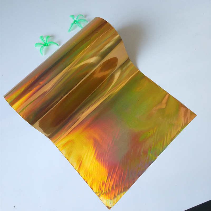 holographic foil hot stamping foil press on paper or plastic gold plain rainbow film  hot foil