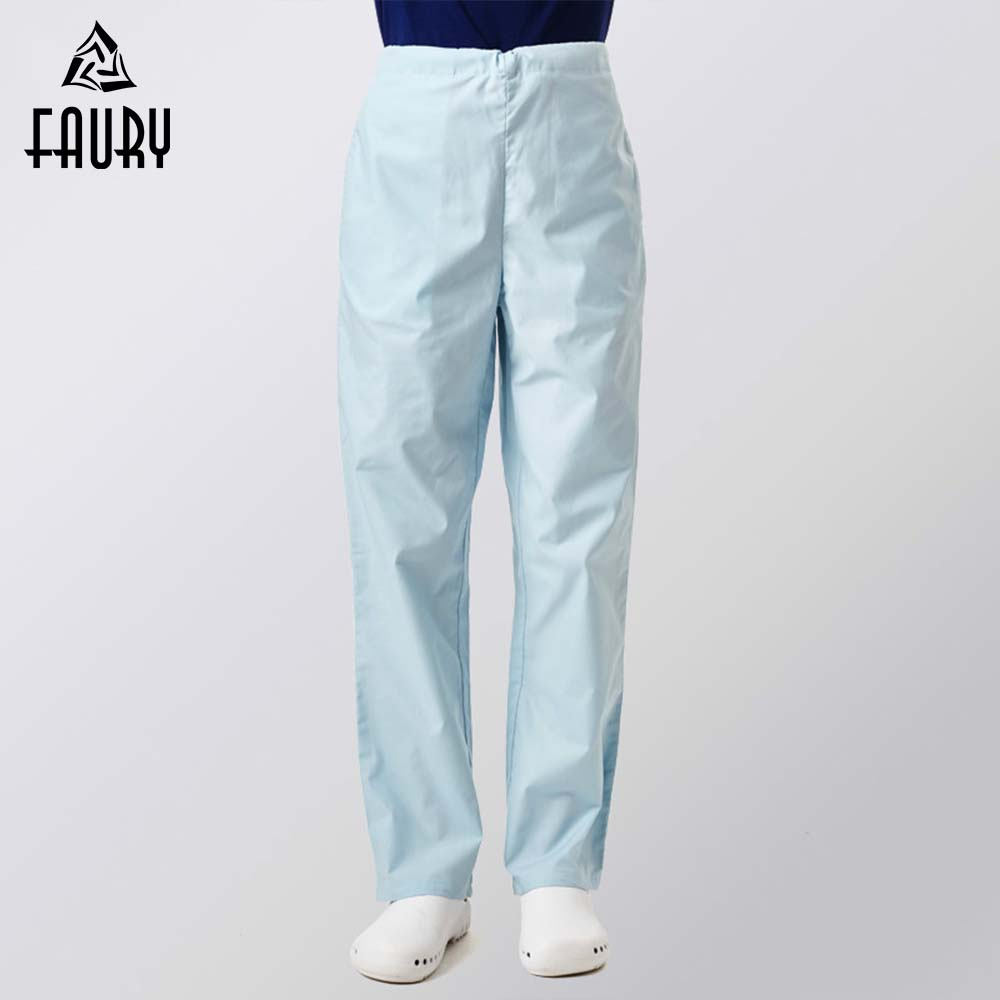 Nurse Uniforms Nurse Doctor Pants Semi-elastic Waist Pants Hospital Medical Long Pants Beauty Salon Nurse Adjustable Work Pants
