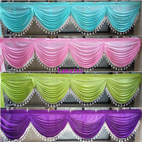 20ft wedding backdrop swags with tassel for event party decoration luxury table skirt swags design for wedding