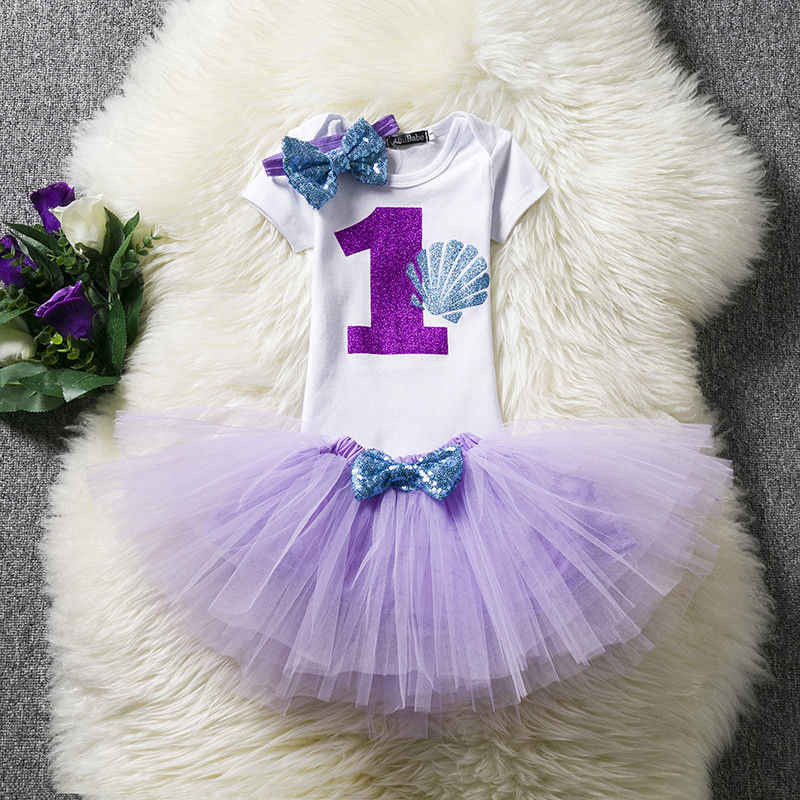 0e4d98b29965c Toddler Baby Girl Dress For Little Girl Kids Princess First Years Birthday  Party Clothes Tutu Purple Dress Newborn Baby Clothing