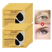 EFERO 5Packs Collagen Eye Mask Dark Circles Repair Anti-Aging Crystal Gel Patch Black Sheet for Patches Skin Care