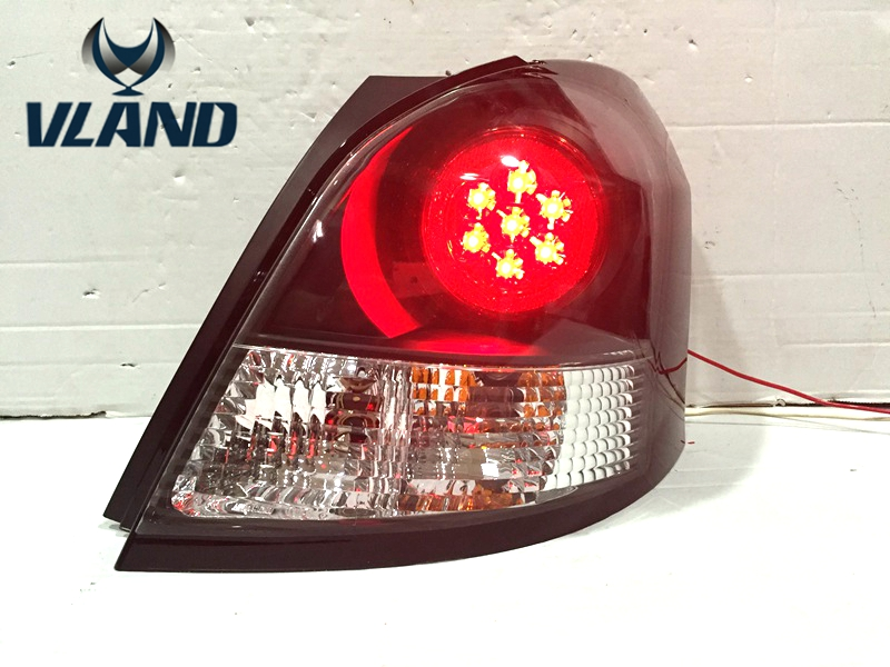 Free shipping Vland factory for  Yaris LED taillight 2005 2206 2007 rearlight  Best quality with Black colors! free shipping vland factory car parts for camry led taillight 2006 2007 2008 2011 plug and play car led taill lights