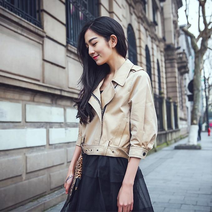 Veste Femelle Coréenne Asymétrie Élégante Mince Ceinture Marque wCAq08W 70aa8c88e26