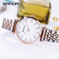 Luxury Brand Super Slim Rose gold Stainless Steel Watches Women Top Sale Casual Clock Ladies Wrist Watch Relogio Feminino