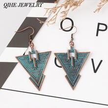 Qihe ювелирные изделия в деревенском стиле бронза Треугольники