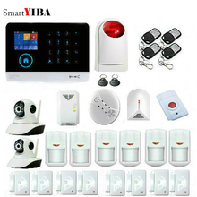 SmartYIBA Wireless Wifi 3G Sim Auto Dial Home Security Burglar Intruder Alarm System Siren Video IP Camera Gas Smoke Fire Sensor