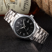 WEISIKAI Luxury Brand Mens Mechanical Watch Stainless Steel Waterproof Shockproof Male Wristwatches Roman Numbersal Horloges