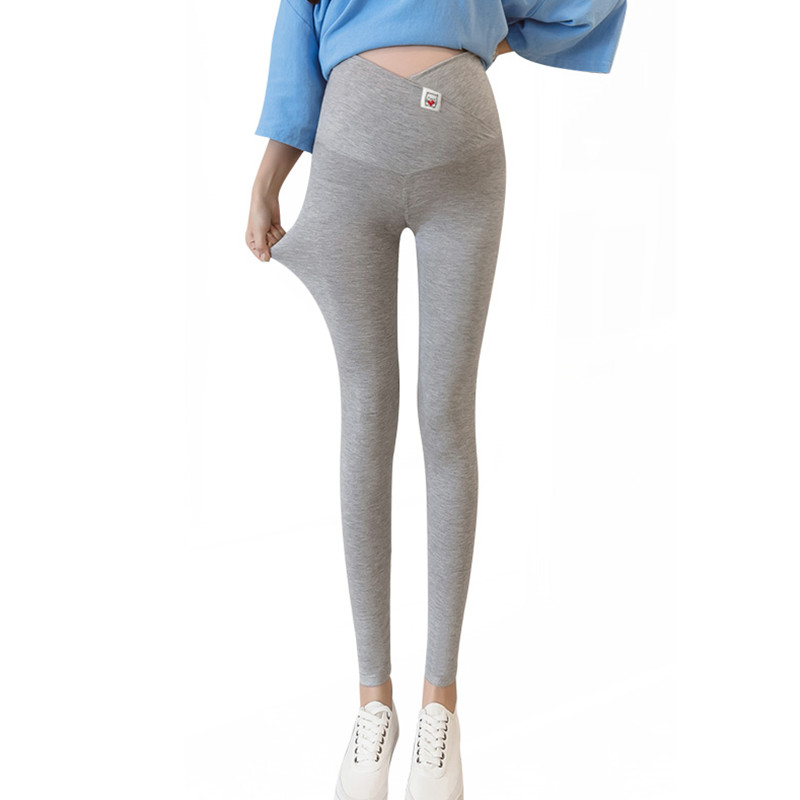 Maternity Women Leggings Cross Stomach Lift Waist Leggings Cotton Pregnancy Women Belly Pants Maternity  Nursing Clothes E0080