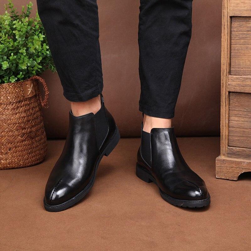 Todos Preto Jogo Algodão Bota Sapatos Do top High Cashmere Zipper De Dos black Velvet Homens Couro Botas Vestido Chelsea Os Montaria Genuíno qCOtHxBZwA
