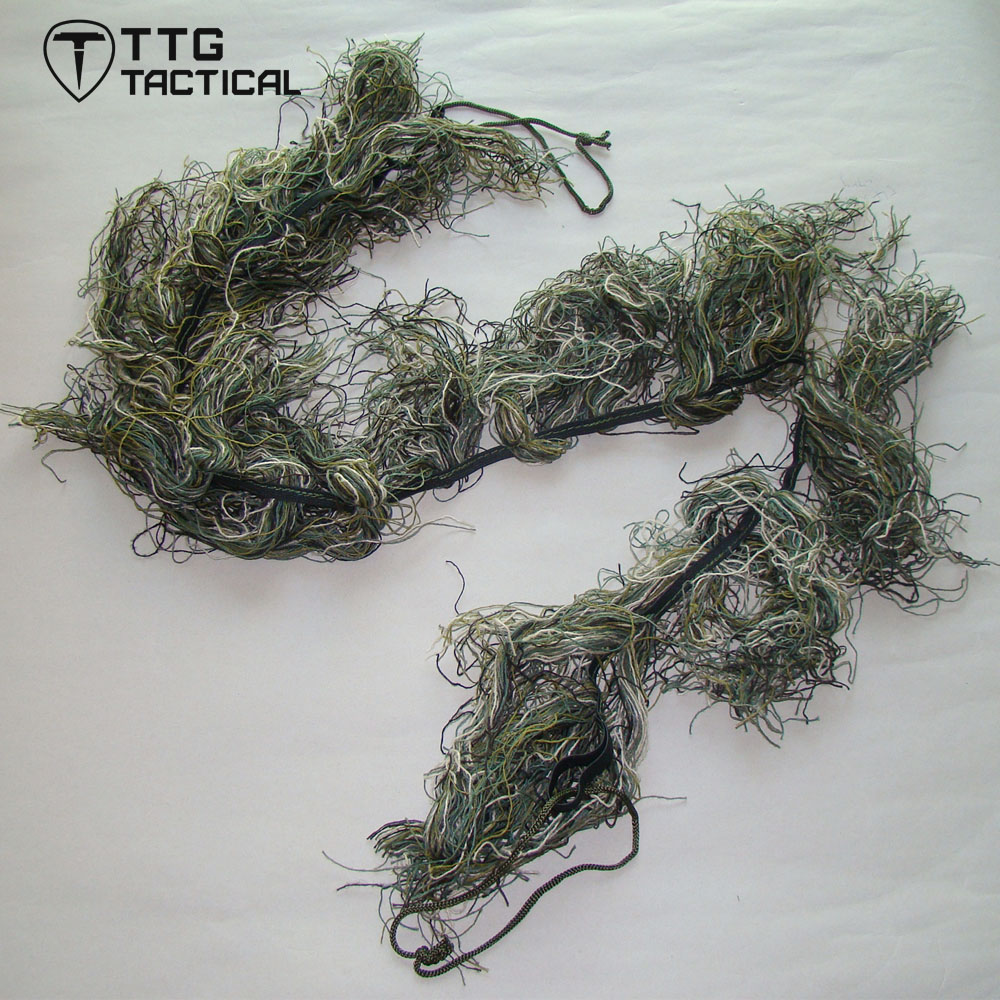 TTGTACTICAL Ghillie Rifle Wrap Camouflage Sniper Rifle Wrap for Hunting Airsoft Woodland/Desert