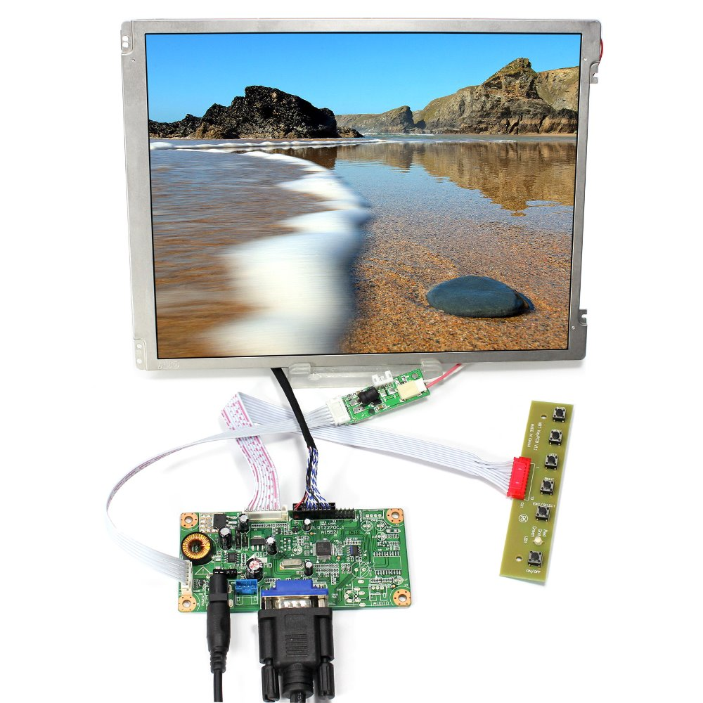 VGA LCD Controller Board 10 4 VS104T 001A G104SN03 V1 800x600 With LED backlight LCD Screen