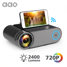 AAO YG421 Mini LED 720P Projector Native 1280x720 Portable Wireless WiFi Multi Screen Video Beamer YG420 3D AC3 HDMI Proyector