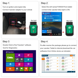 Image 4 - Vpecker OBD2 Wifi All OBD2 Scanner  Easydiag V11.2 sc8in Win10 Vpecker Tablet ODB2 Car Auto Diagnostic Scanner VPECKER EASY DIAG