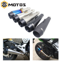 ZS MOTOS 51 MM Motorcycle Scooter Exhaust Pipe Moto Escape GP Pot Silencer For M4 For Most Motocross Dirt Bike Cross ATV Slip on