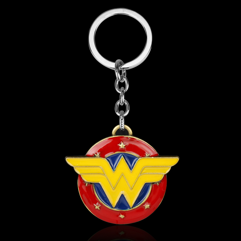 Wholesale Movie Series Superhero Key Chain Wonder Woman Keyring Keychain for Keys Chaveiro Llavero Key Ring Key Holder porte