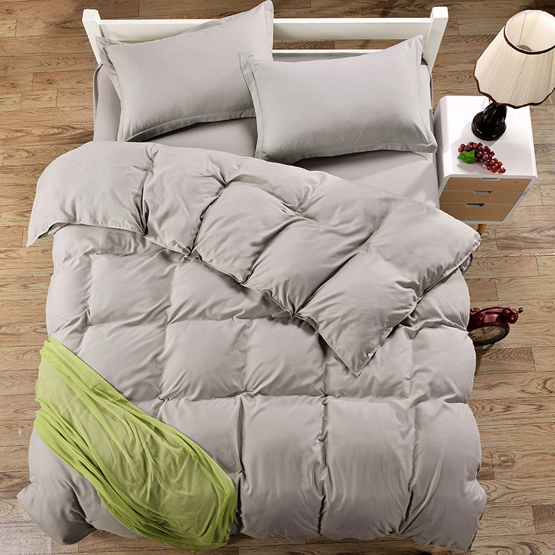 grey color 100 polyester bedding sets twin full queen
