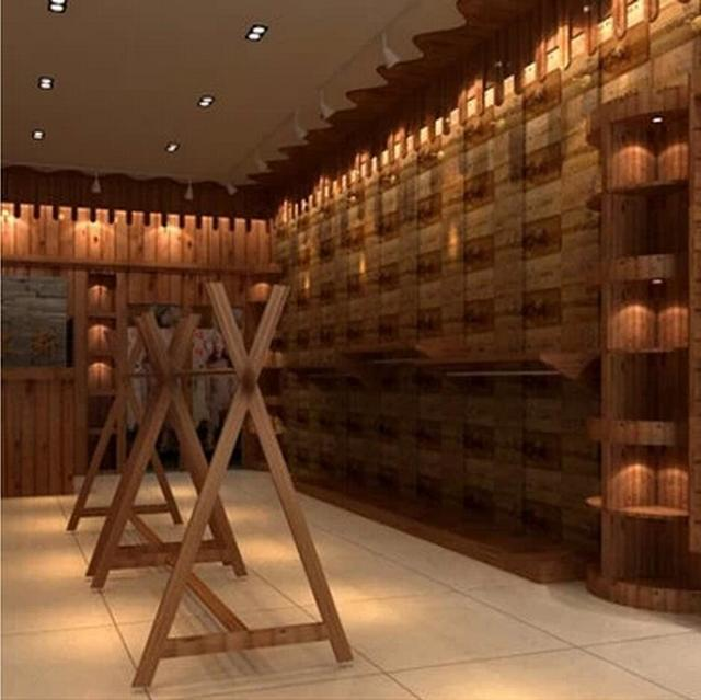 American Country Style Wood Pattern Wine Bar Wallpaper Restaurant Wall Covering Paper