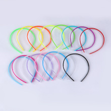 A004 New Wholesale multicolor childrens plastic hairbands cute candy colors hair clips DIY girls pins 0.8CM 15pcs/lot