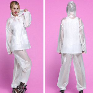 Fishing raincoat poncho women men waterproof EVA Rain coat Pants Set outdoor Split Rain Suit Chubasqueros Impermeables