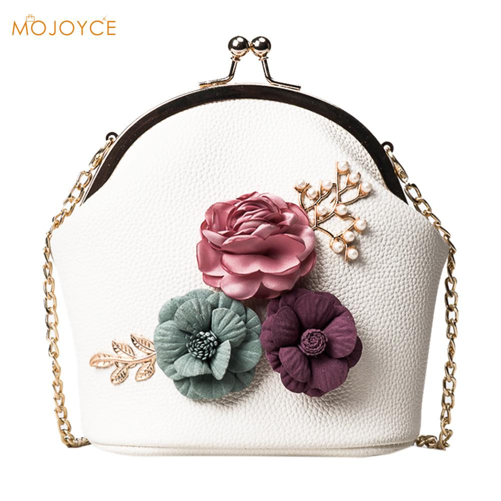 Latest Handbag Lotion Vintage Chain Mini Cross-Body Bag PU Mouth Gold Package Totes Floral Print Chain Evening Bag Floral BAG chain houndstooth print crossbody bag
