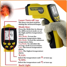 Infrared Thermometer Non Contact Digital Thermometer Gun with Laser -50–1120'C / -58'F–2048'F