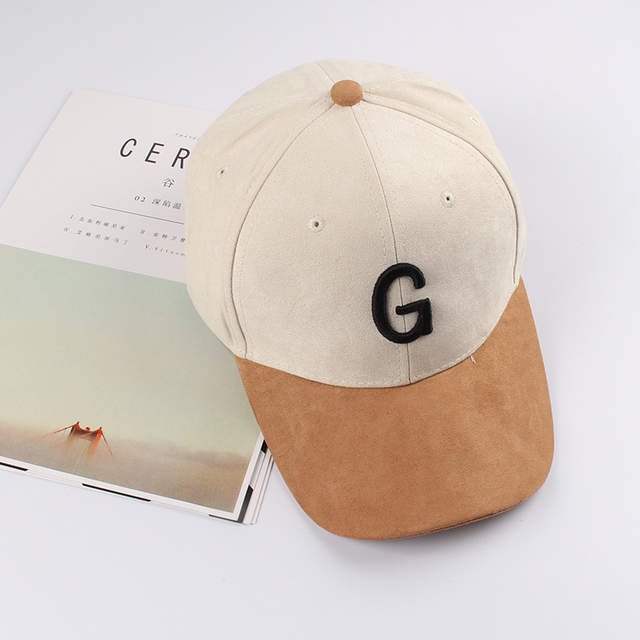 1cf4bec22b7 placeholder Unisex Suede Baseball Cap With Embroidery Letter G Curved Brim  Snapback Hat Hip Hop Caps Fashion