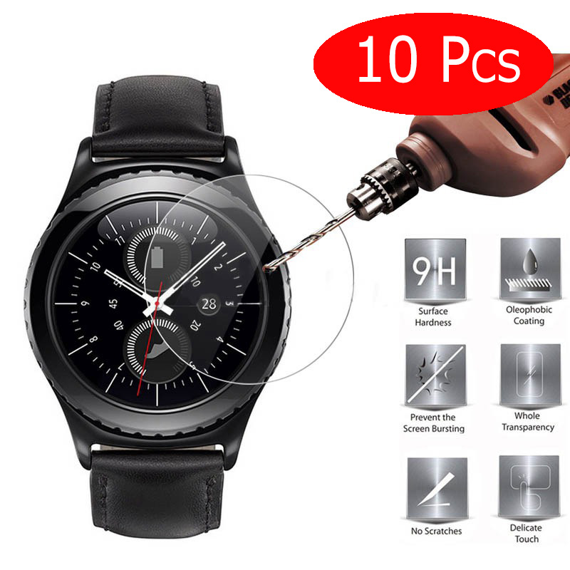10 Pieces HOPELF Tempered Glass for Samsung Gear S3 Screen Protector 9H 2.5D Protection Film for Samsung Gear S3 Tempered Glass