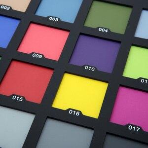 Image 5 - Tarjeta Profesional de 24 colores de prueba Tarjeta de equilibrio de Color tablero de paleta para corrección de Color Digital Superior accesorios de fotografía