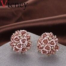 US $1.13 54% OFF|Vicney 2018 Fashion Beautiful Bouquet Crystal Rose Gold Wedding Flower Rhinestone Stud Earrings For Women Jewelry Earring-in Stud Earrings from Jewelry & Accessories on Aliexpress.com | Alibaba Group