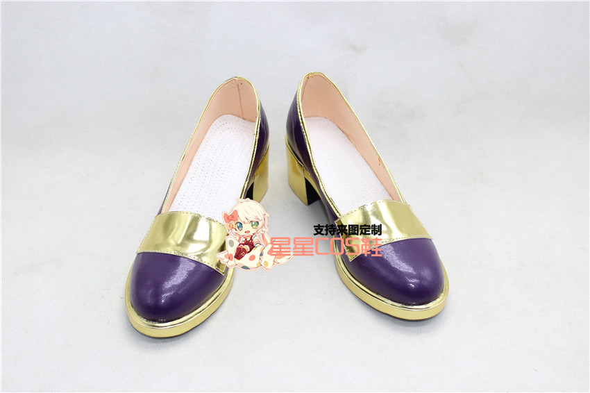 Fairy Tail Lucy Heartphilia Girls Purple Cosplay Shoes Boots X002