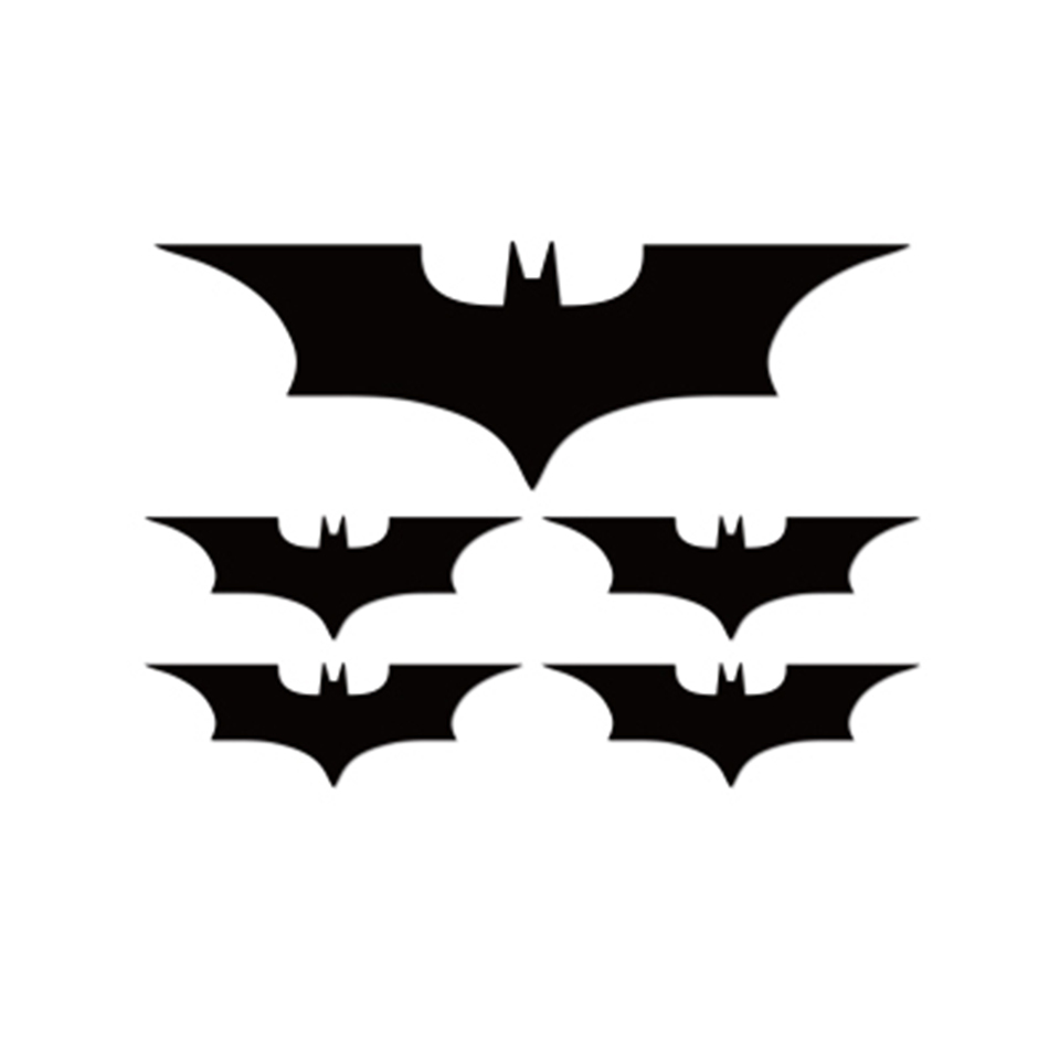 Image 3 - 5Pcs White,Black Car Bat Cartoon Vinyl Body Tailgate Decal Motorcycle Sticker OCT 9-in Car Stickers from Automobiles & Motorcycles