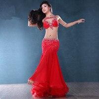 Живот индийские Gypsy Танцы костюмы живота Танцы восточные танцы костюм одежда бюстгальтер, пояс цепи шарф кольцо юбка комплект с платьем кос