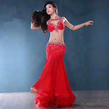 Belly Indian gypsy dance costumes Bellydance oriental dancing costume clothes bra belt chain scarf ring skirt dress set suit 720