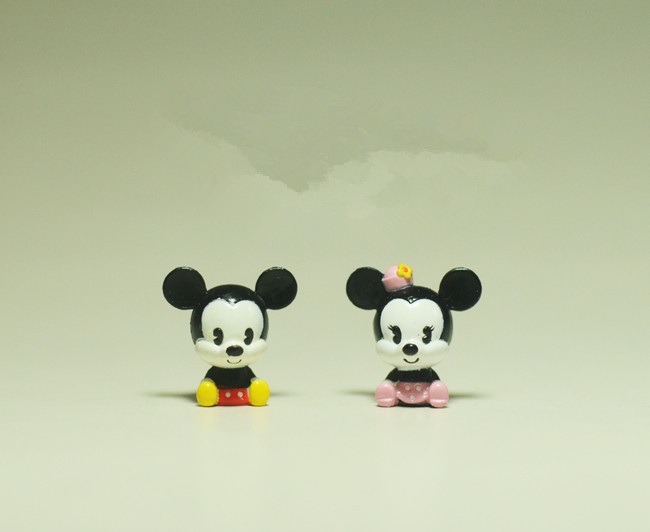 60pcs 2cm couple of mickey mouse minnie mouse action figures mickey mouse subminiature figure toys mickey mouse anime figure