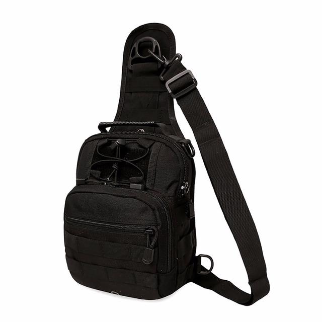 Nylon de alta qualidade dos homens tote bolsa crossbody sacos sacos de ombro mensageiro à prova d' água militar dia back pack mochila peito masculino