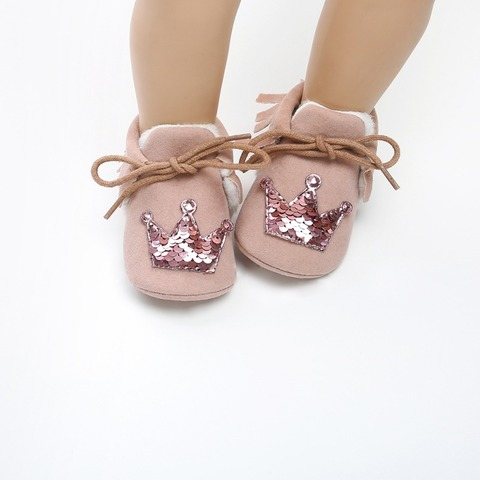 Hot Baby Princess Crown Casual Toddler Shoes Baby Shoes 2018 New Winter Newborn Soft Warm Shoes Infant First Walkers 0-18M F Islamabad