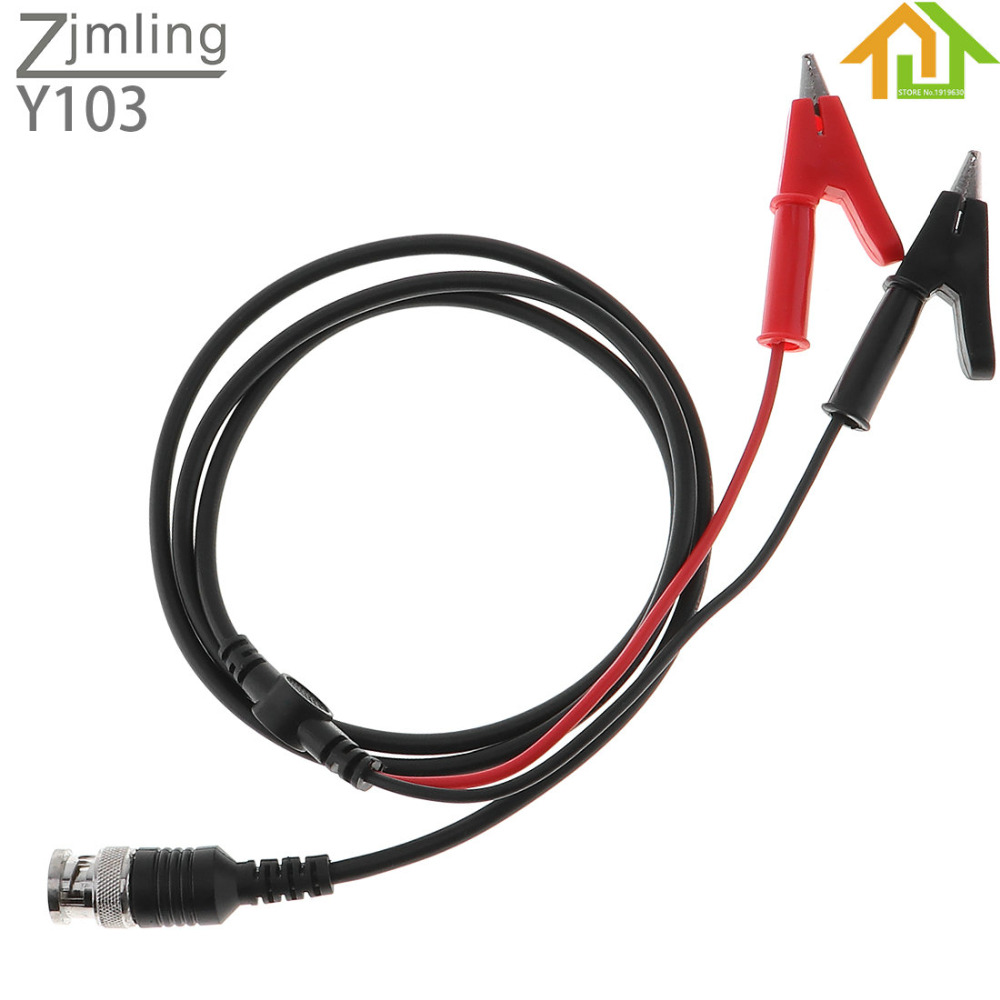 ZJMLING BNC Q9 To Dual Alligator Clip Plug Oscilloscope Test Probe Lead Cable