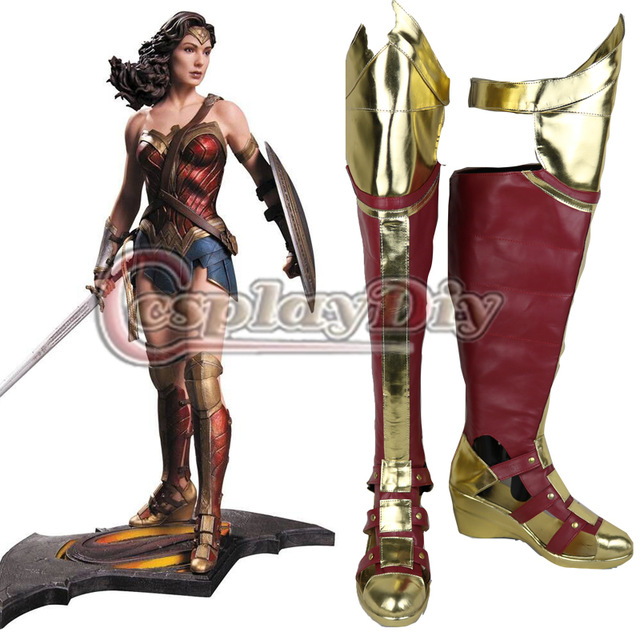 23635cf8ffb7 Cosplaydiy Wonder Woman Cosplay Boots Dawn of Justice League Adult Women  Shoes Custom Made