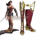 Superman Batman v: Wonder Women Botas Cosplay Amanecer de Justice League Mujeres Adultas Zapatos Hechos A Medida