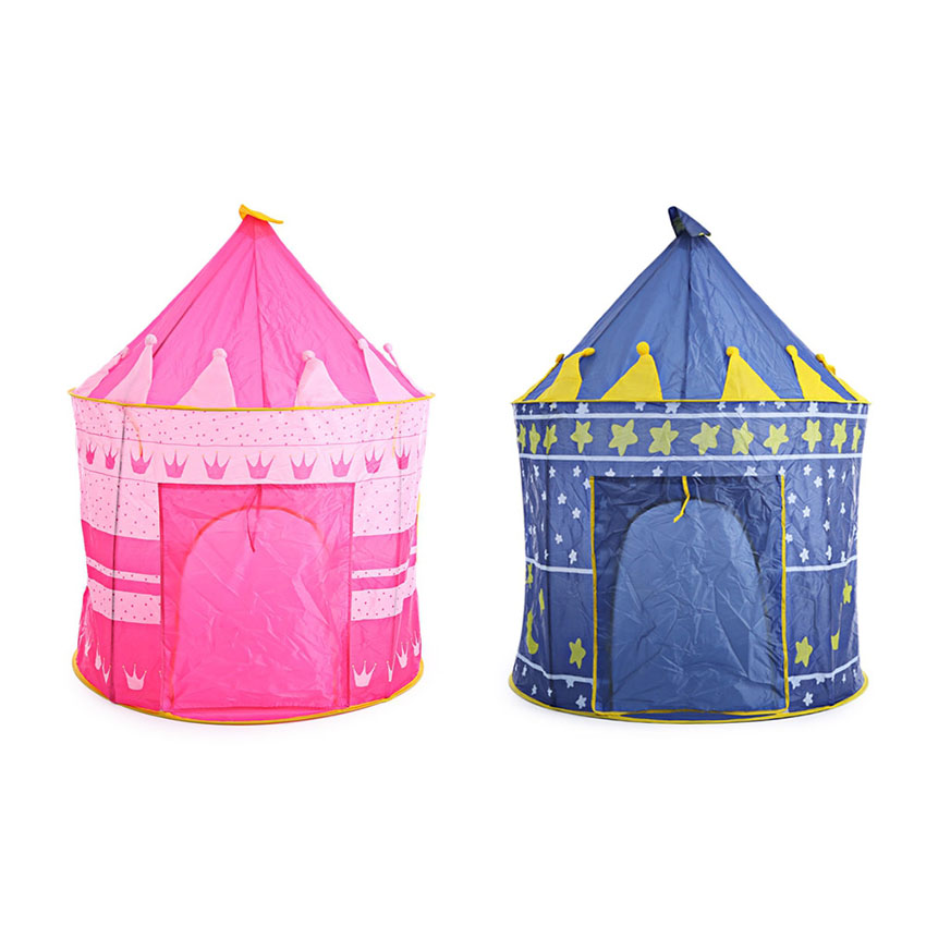 Stars Castle Kids Play Tent House Play Hut Children Portable Outdoor Indoor Toy Tent Kids' Gift mushroom kids play hut pink blue children toy tent baby adventure game room indoor outdoor playhouse