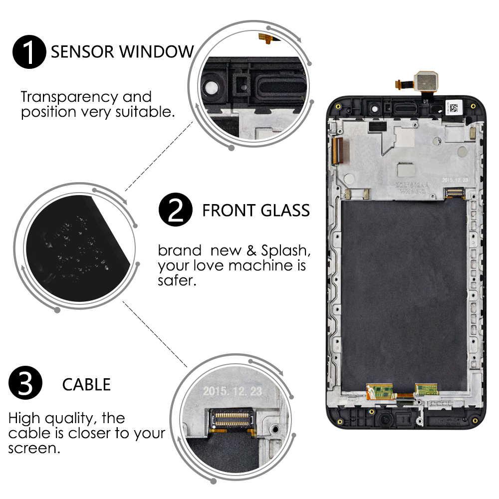 """5.5 """"Asus の Zenfone 5 最大 ZC550KL 液晶ディスプレイのタッチスクリーン用フレーム、 Asus 5000 Z010D 液晶 ZC550KL ディスプレイ"""