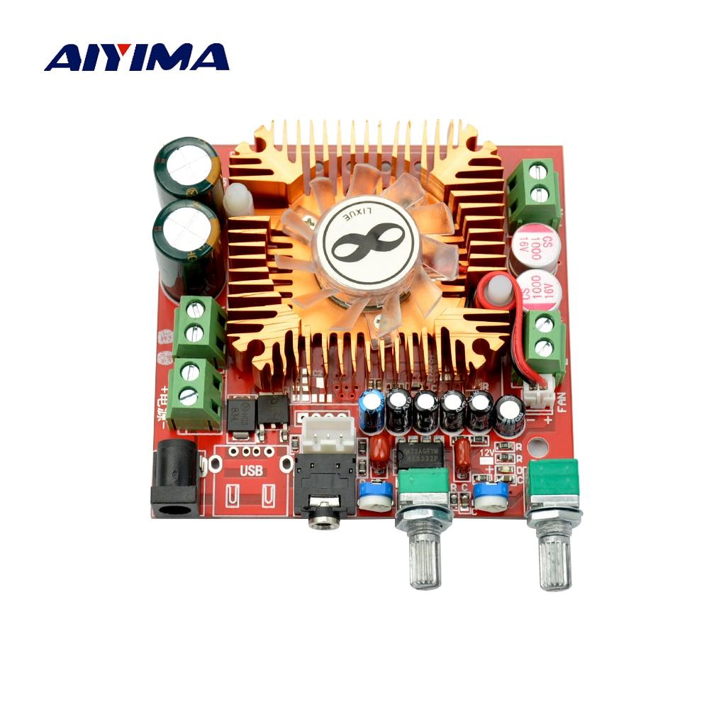 Aiyima Subwoofer Verstärker TDA7379 2,1 Kanal Audio Verstärkerplatine 13Wx2 + 38 Watt Bass DC12-20V