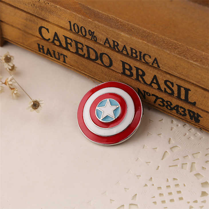 Kapten Amerika Bros LOGO Marvel Avengers Superhero Enamel Shield Pin Lencana Fashion Baru Panas Film Perhiasan Pria Wanita Grosir