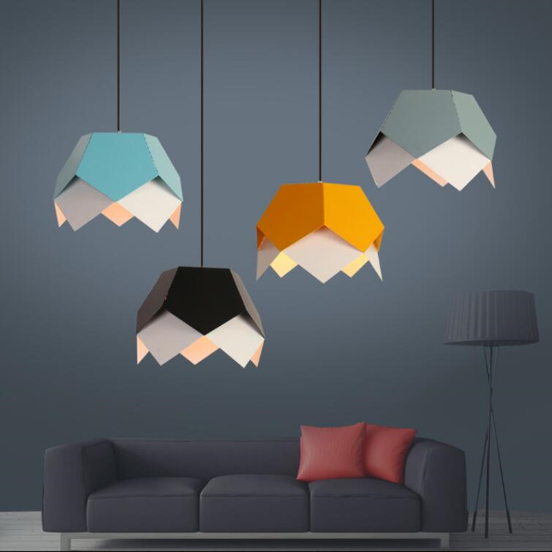 цены Modern pendant lamp LED colorful indoor light lighting metal Windows pendant lampshade style lighting light fixture