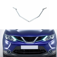 Pair Chromium Styling Front Grille Cover Trim Molding For Nissan Qashqai J11 2014 -2016
