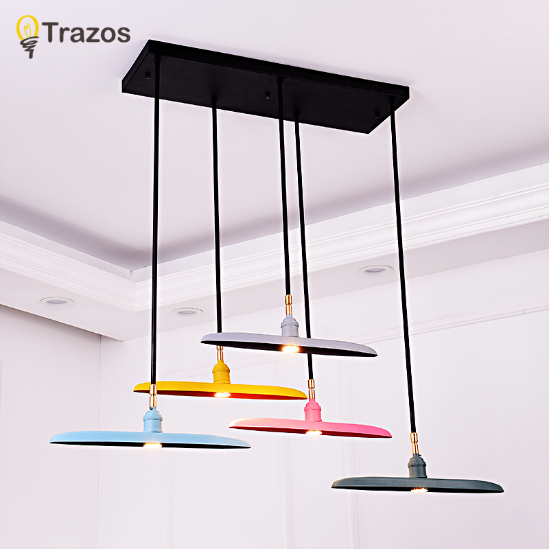 TRAZOS LED Ceiling Lights Colorful Ceiling Mounted For Living Room Round Bedroom Lamp Metal Frame Kitchen Lighting Fixturea